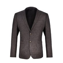 Wool Tweed Mens Suit Slim Fit Single Breasted Tailored Collar Autumn Winter Male Coat For Party Business Jacket