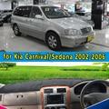 Автомобиль dashmats автомобиль для укладки аксессуары приборной панели крышки для KIA Sedona Grand Carnival R 2002 2003 2004 2005 2006 rhd