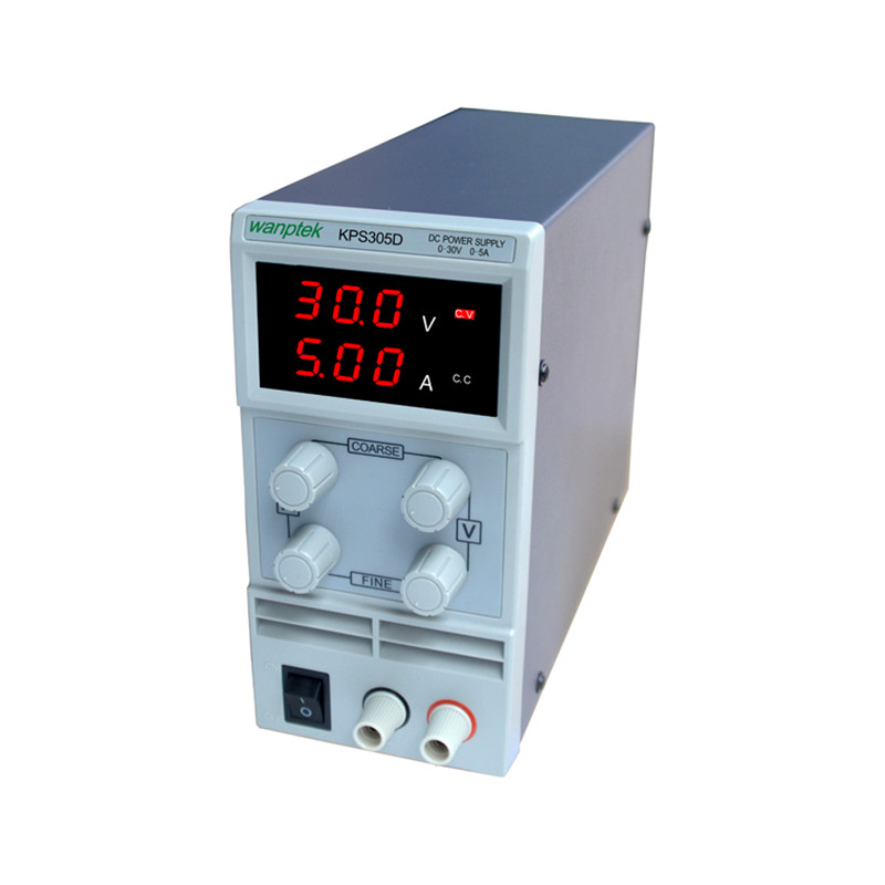 KPS305D Adjustable precision double LED display switch DC Power Supply protection function 0-30V/0-5A 110V-230V cps 6011 60v 11a digital adjustable dc power supply laboratory power supply cps6011