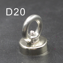 1/2/5/10pcs D20 Neodymium Magnet NdfeB N35 Super Powerful Strong Permanent Magnetic Treasure Hunting Underwater Fishing  imanes