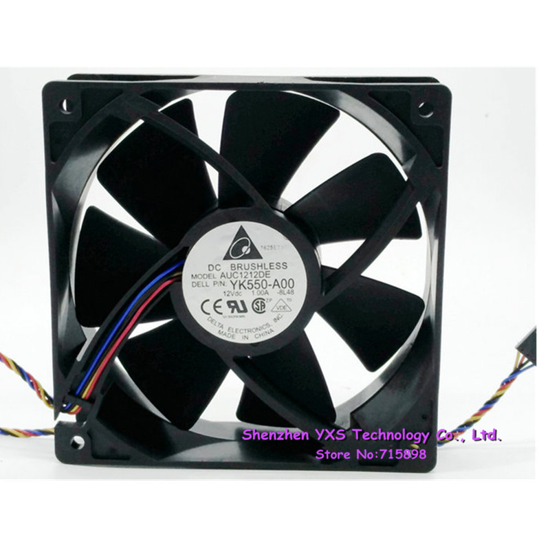 auc1212de 12cm 12038 12v 1 0a 120 120 38mm cooling fan yk550 a00 rh aliexpress com