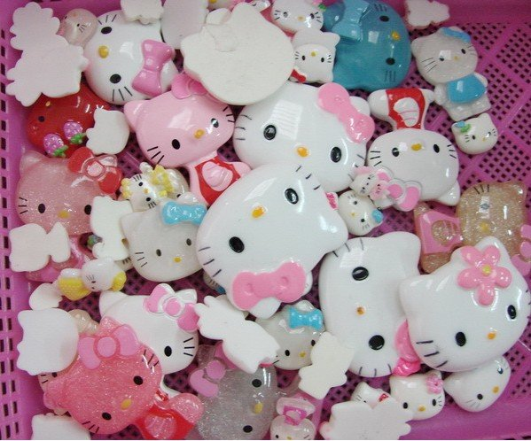 Free Shipping 200pcs/bag mix sizes & color resin Hello kitty,DIY hair ornament accessories,card making & scrapbooking,DIY crafts