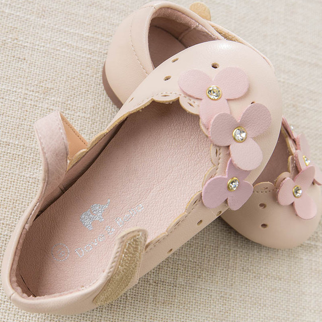 DB6930 Dave Bella spring baby girl leather shoes children flower shoes