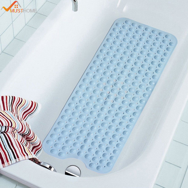40cmx100cm Extra Long Bathtub Mat Non Slip Anti Bacterial Suction ...