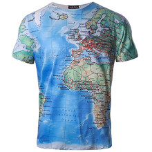 Popular map print buy cheap map print lots from china map print brand 3d t shirt men world map t shirt funny t shirts male 2018 summer short sleeve anime tops tee fashion mens clothing gumiabroncs Images