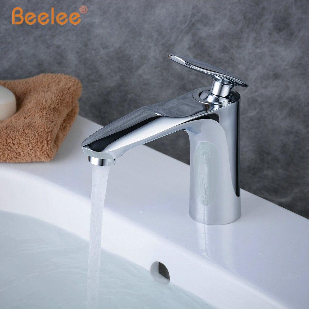 Robinet de salle de bains mitigeur de lavabo robinet Moderne évier robinets mitigeur robinet de lavabo en laiton massif Chrome fini BL6771