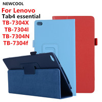 Litchi PU Case Cover For Lenovo Tab4 Tab 4 7 Essential TB 7304 TB 7304F TB