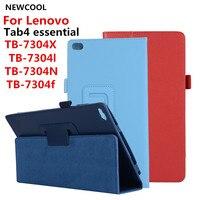 Litchi PU Case Cover For Lenovo Tab4 Tab 4 7 Essential TB 7304 TB 7304F TB