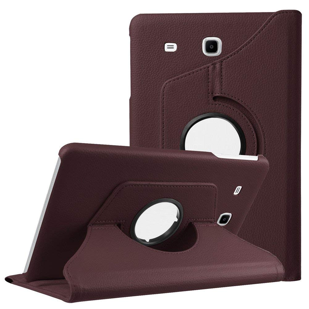 360 Rotating Cases Cover For Samsung Galaxy Tab E 9.6 Case SM-T560 T561 Quality PU Leather Stand Smart Tablet Cases Cover Luxury