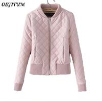 Women Jacket 2019 Autumn Winter New Women fashion Ladies Coat Slim Short Pink warm PU Jacket Women loose Jacket