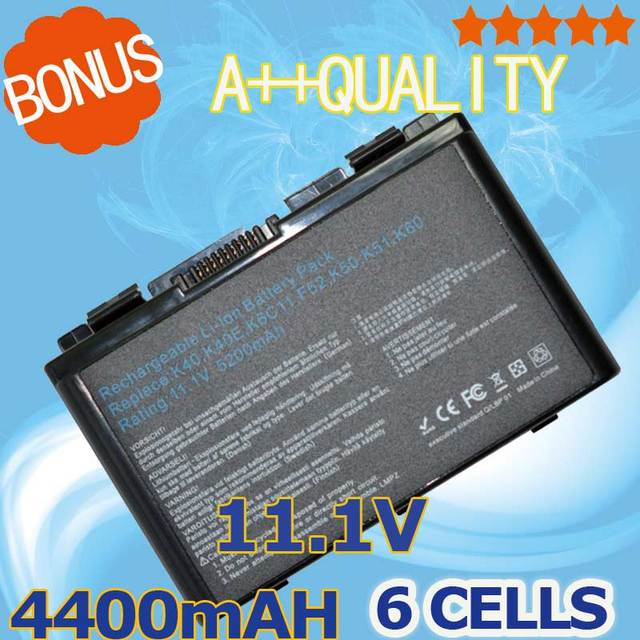 4400mAh Battery For Asus Pro5DIN X8AID  K50IL Pro5DIP  X8AIE   K50IN  Pro5EA  X8AIJ  K50IP Pro5EAC X8AIL  K50X Pro5EAE  X8AIN