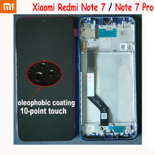Original Best Xiaomi Redmi Note 7 Hongmi Note7 Pro LCD With Frame Display Touch Screen Digitizer Assembly 10-Touch Panel Sensor original for highsrceen power 5 pro lcd five pro display touch screen sensor complete digitizer with touch buttons assembly