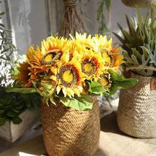 ea3f1bee900 Panier de stockage d herbe de mer paille jardin Pot de fleur fait à la