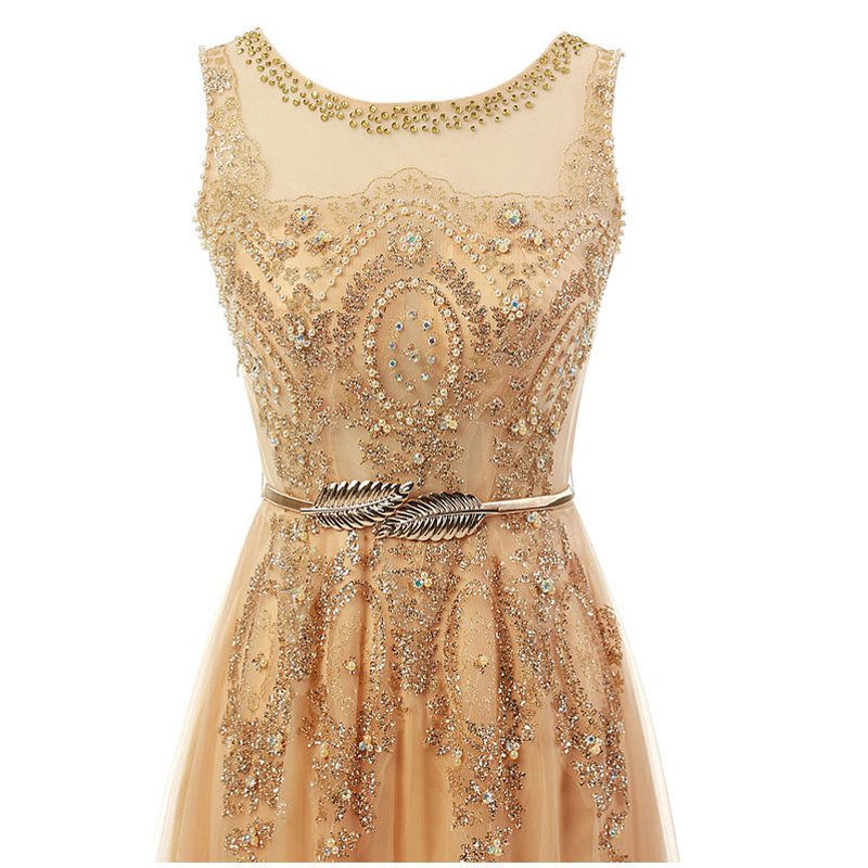 Gold Great Gatsby Prom Dresses Short