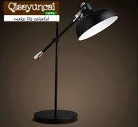 Qiseyuncai Free shipping The Nordic modern minimalist style iron Desk Lamps reading office folding arm desk lamp