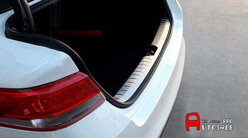 For Kia Optima K5 2016 2017 Stainless Steel Exterior Car Inner Rear Bumper Guard Plate Cover Trim 1pcs