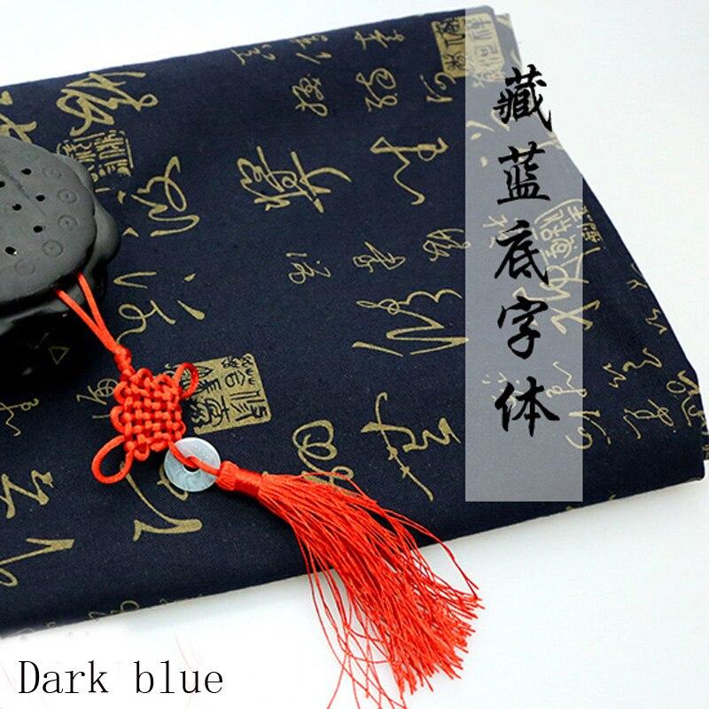 Estilo chino Tinta Líquido Estampado de tela Cortina Paño de tabla - Artes, artesanía y costura - foto 3