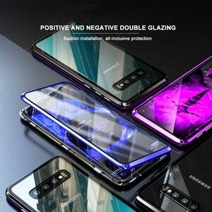 Image 5 - Eqvvol อัพเกรดโลหะโทรศัพท์แม่เหล็กสำหรับ Samsung Galaxy S9 S8 S10 PLUS คู่แก้วกรณี Samsung Note 8 9 S8 ฝาครอบ