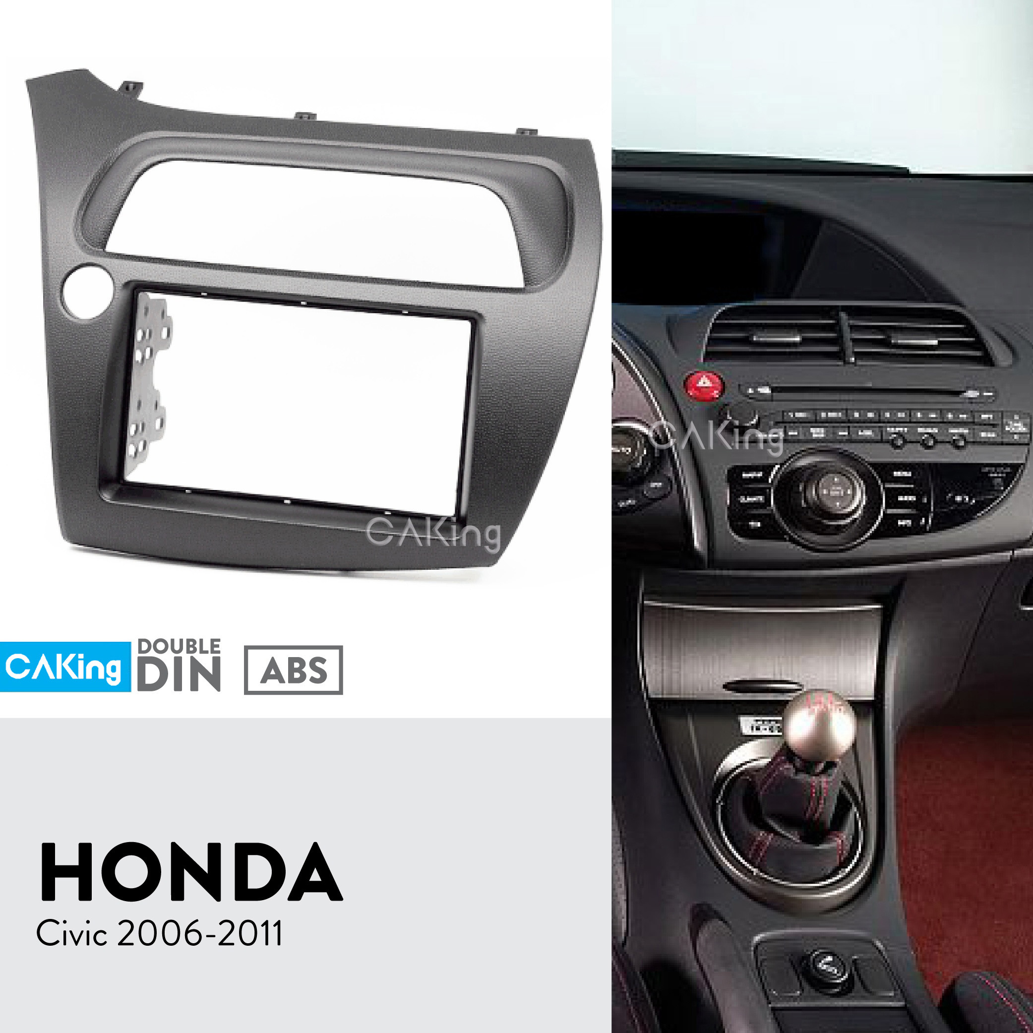 left Wheel Dash Kit Facia Plate Adapter Bezel Cover Trim Dutiful Double Din Car Fascia Radio Panel For Honda Civic Hatchback 2006-2011