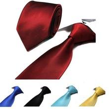 Tiras pura gravata dos homens gravata acessórios camisa 8 cm preto vermelho roxo amarelo cor sólida