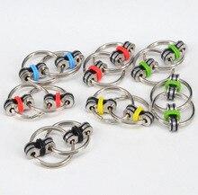 5สีพวงกุญแจมือปั่นTri-s PinnerลดความเครียดEDCอยู่ไม่สุขของเล่นสำหรับออทิสติกสมาธิสั้น