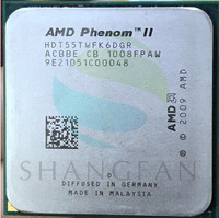 Free Shipping For Phenom X6 1055T X6 1055T 2 8GHz Six Core CPU Processor HDT55TWFK6DGR 95W