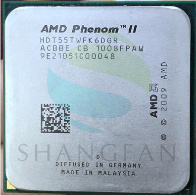 AMD Phenom X6 1055T X6-1055T 2.8GHz Six-Core CPU Processor  HDT55TWFK6DGR 95W Socket AM3 938pin