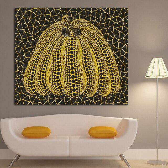 Modern Abstract Pumpkin Oil Painting On Canvas By Yayoi Kusama Wall ...