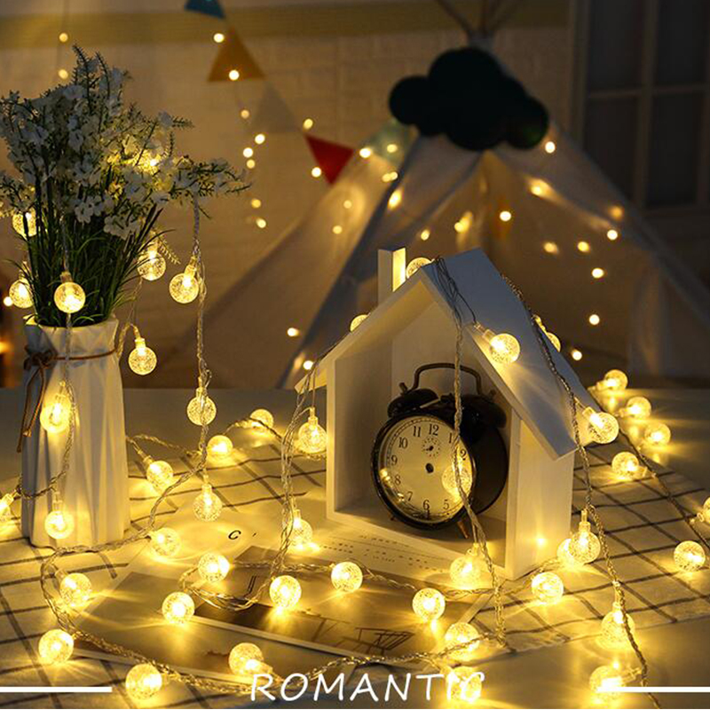 Globe string lights 10m bedroom decoration led night - Decorating with string lights indoors ...