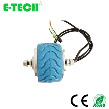 CE approved 4 inch geared  double shaft e-scooter hub motor wheel