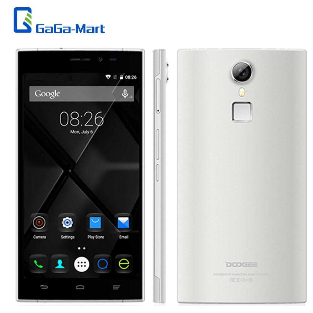 """Цена за Новый Оригинальный DOOGEE F5 5.5 """"1920*1080 P х 4 Г FDD Мобильного Телефона Android 5.1 MTK6753 Octa Ядро 3 ГБ + 16 ГБ 13.0MP Отпечатков Пальцев ID Смартфон"""