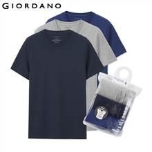 Giordano גברים חולצה שרוולים קצרים הכותנה mens טי קיץ ג 'רזי גופיות זכר מוצק מותג clothing sous vetement homme(China (Mainland))