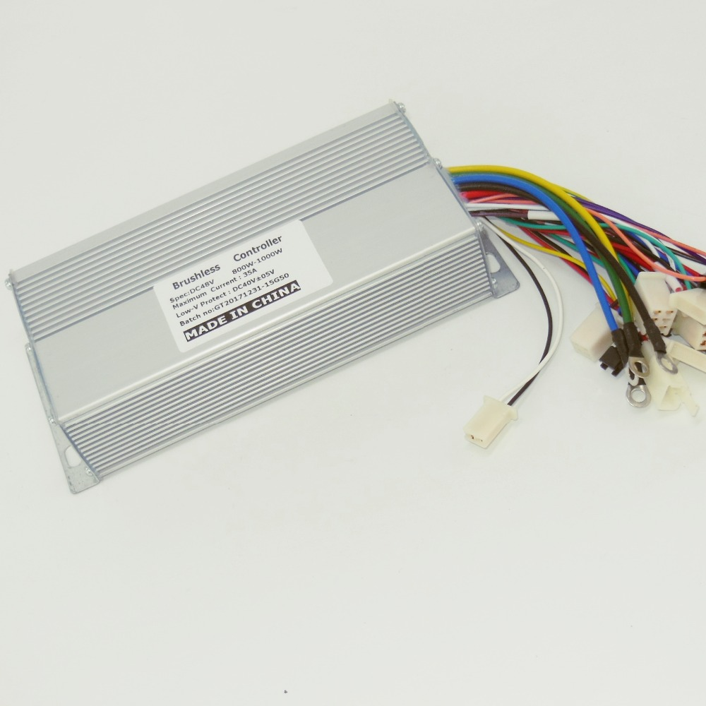 GREENTIME 15 Mosfet 48V 1000W 35A Dual Mode Sensor/Sensorless BLDC Electric Bicycle/Scooter Controller
