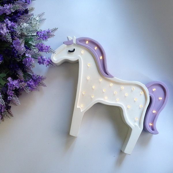 Kids Bedroom Gifts aliexpress : buy led wood unicorn horse animal night lamp