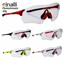 цена на Bike Glasses CINALLI C098 Photochromic MTB Road Bicycle Sports Sunglasses Protective TR90 Frame Polycarbonate Outdoor Sunglasses