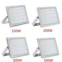 1PCS Ultrathin LED Flood Light 150W 200W 300W 500W IP65 110V/220V LED Spotlight Refletor Outdoor Lighting Wall Lamp Floodlight