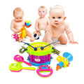5Pcs/Set Kids Roll Drum Horn Music Toys Musical Instruments Band Kit Baby Grasp Handbell Sound Toy Early Educational Toy Set