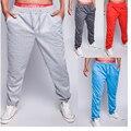 Осень-зима 2015!Мужские свободные спортивные штаны для занятий спортом с упругим поясом!Разных цветов!