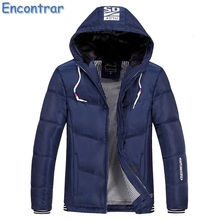 Encontrar 2017 New Men Winter Jacket Plus Size M-4XL Slim Fit Padded-Cotton With Hooded Parkas Male Casaco Masculino ,QA390