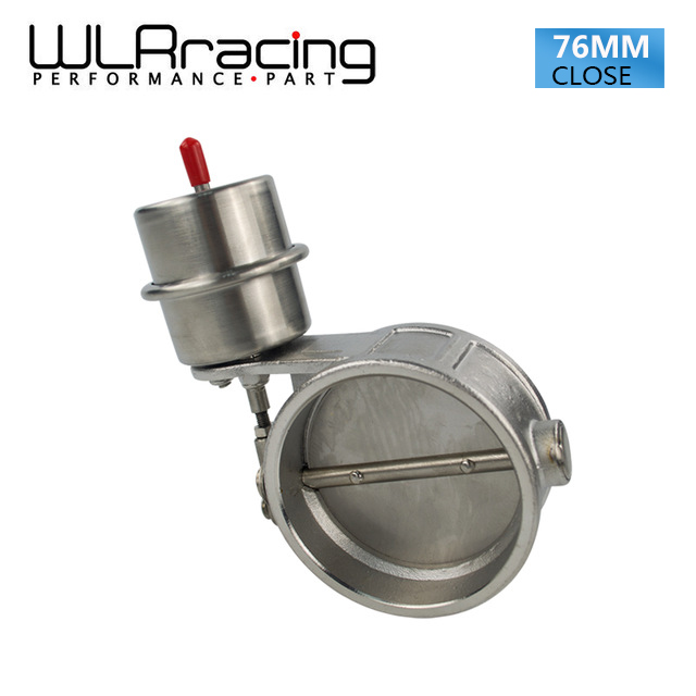 WLRING STORE Exhaust Control Valve With Vacuum Actuator Cutout 3 76mm Pipe CLOSED with ROD WLR