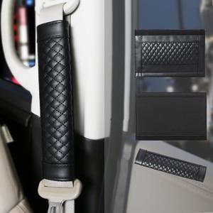 Image 5 - 2Pc/Set Leather seat safety belt Cover Universal Soft Car Seat Belt Protector Shoulder Strap Pads Protect Your Neck And Shoulder