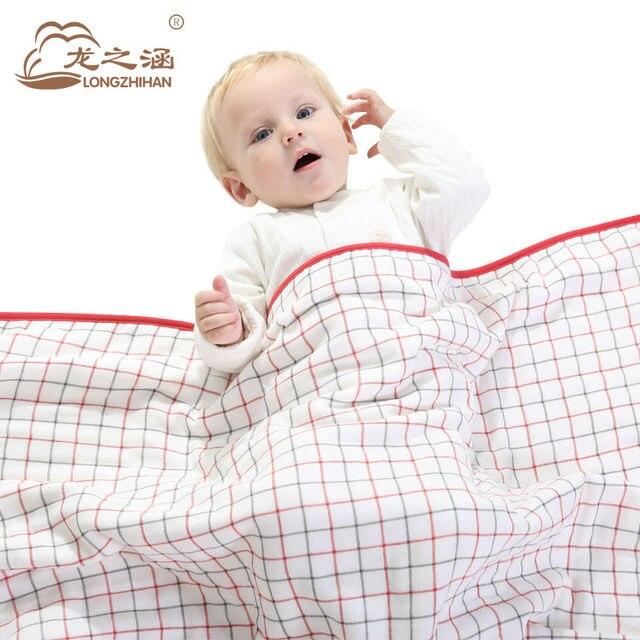 100% хлопок Марли детское одеяло муслин детское одеяло пеленать Младенца спать cover supersoft одеяло Муслин Большая Детская Постельные Принадлежности