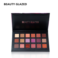 BEAUTY GLAZED Professional Eyes Makeup Easy To Wear Eyeshadow Natural Matte Shimmer Palette Long Lasting Eye