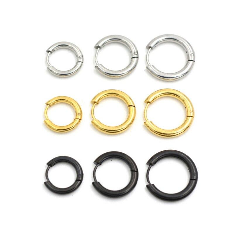 Alisouy hot 1 pair High Quality Men titanium Ear Helix Hoop Huggie Stud Sleeper Earrings Piercing simple stud earrings