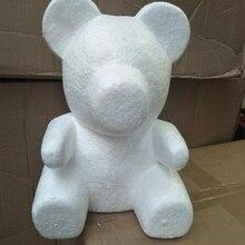 Розовый медведь пластиковый медведь искусственный цветок эмбрион пена пластиковые цветы 35 см, 50 см, 60 см медведь