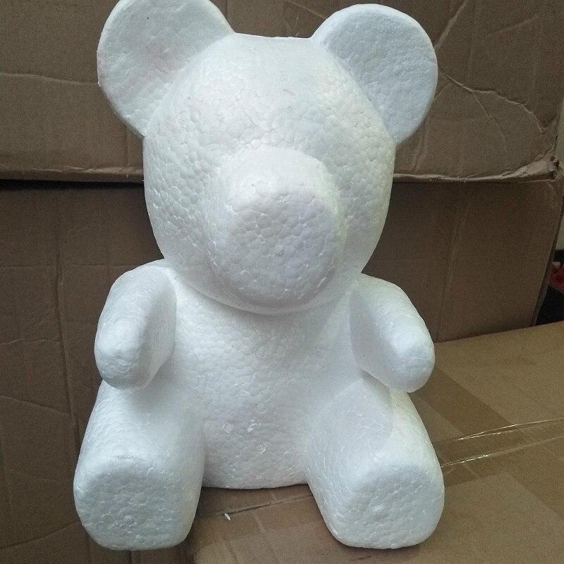 Rose ours ours en plastique artificielle fleur embryon mousse mousse en plastique fleurs 35 cm, 50 cm, 60 cm ours