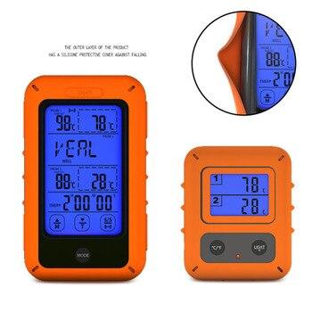 Thermomètre Numérique Sans Fil | Thermomètre à Viande à Distance Sans Fil Avec écran Tactile Thermomètre De Rétro-éclairage De Viande De Cuisine Numérique Avec Double Sonde De Nourriture/four