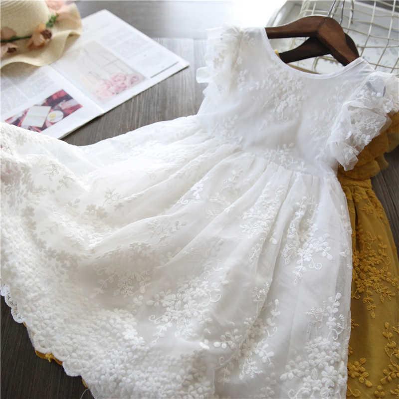 Verão Rendas Crianças Roupas Vestido de Princesa Crianças Vestidos Para Meninas Causal Desgaste Unicórnio 3 8 Anos Meninas Vestir Vestido Robe fille