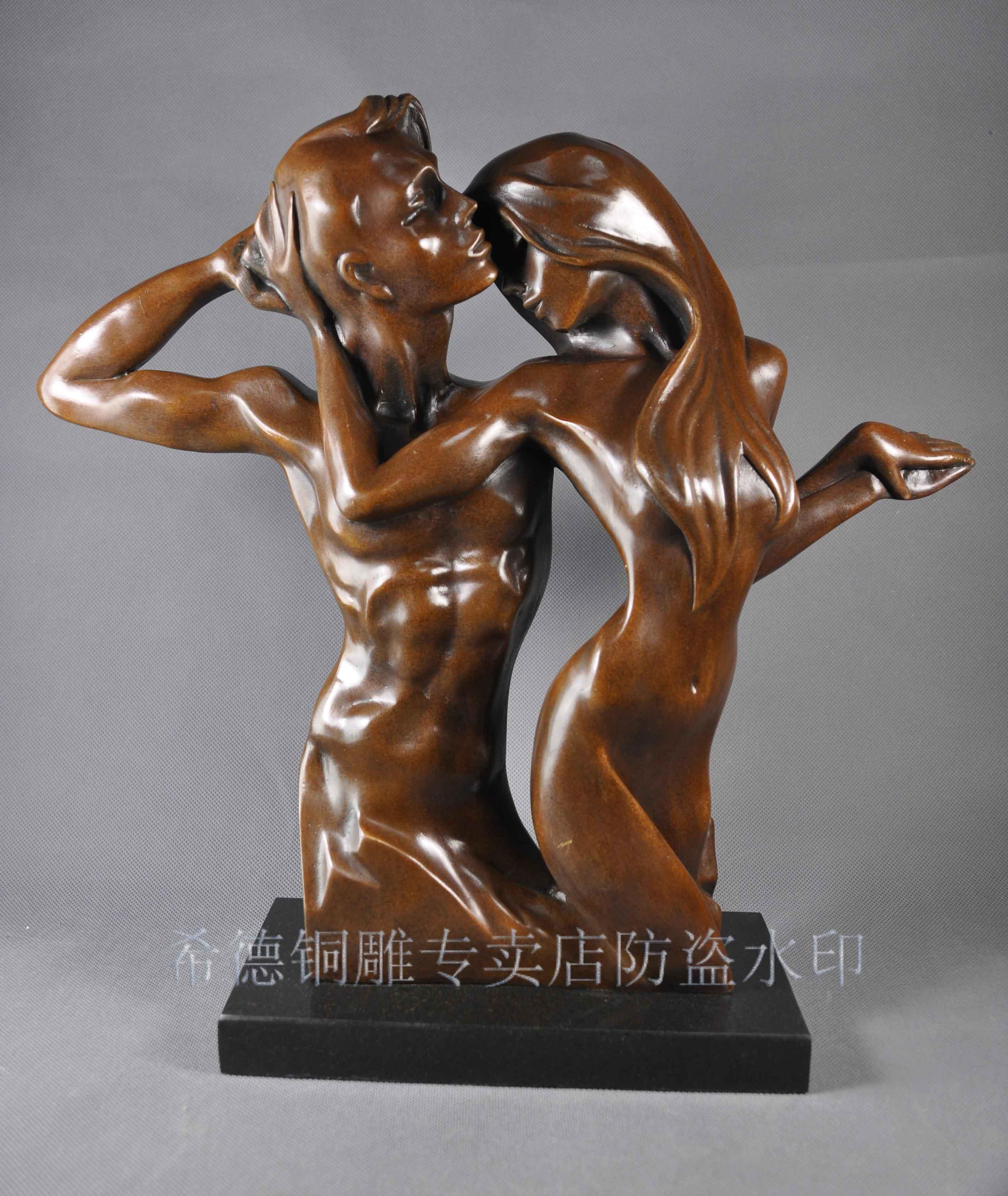 Bronze sculpture, copper sculpture crafts abstract sculpture modern brief decoration wedding gifts ds-386Bronze sculpture, copper sculpture crafts abstract sculpture modern brief decoration wedding gifts ds-386