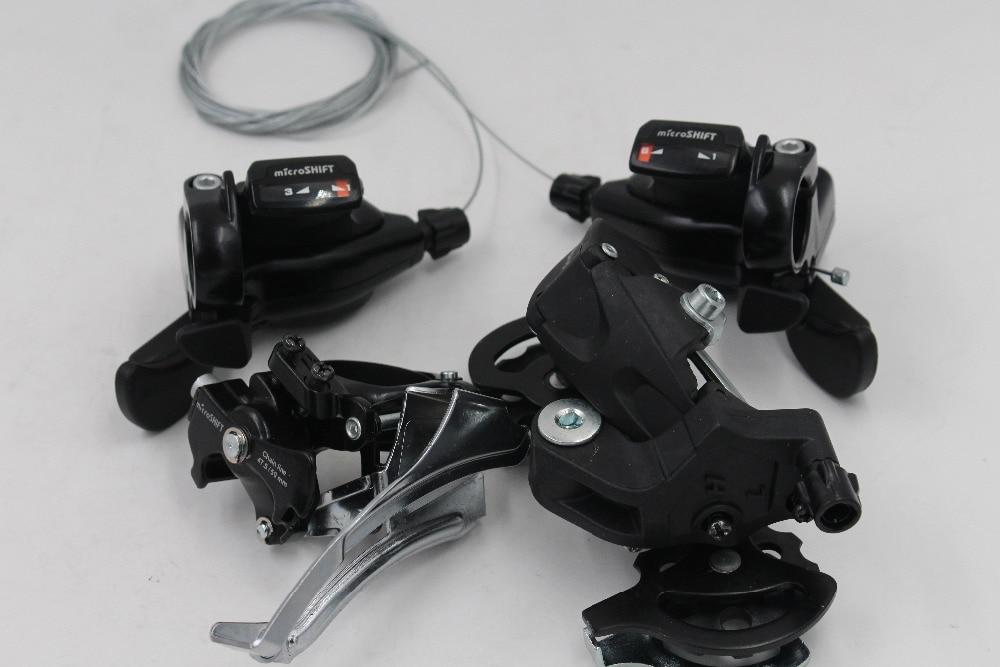 Microshift groupset  Mountain Bike MTB 8 speed  bicycle derailleur set black bike shifter levers 8 speeds